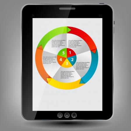 Tablet icon illustration Stock Vector - 14039746