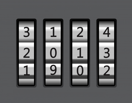 Code lock with number 2013 illustration Vector