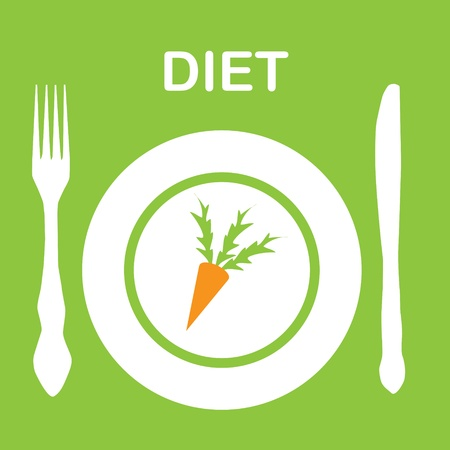 diet icon illustration Stock Vector - 14039740