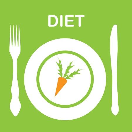 diet icon illustration Stock Vector - 14039740