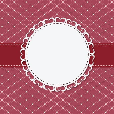 round frame: vintage frame with bow  illustration