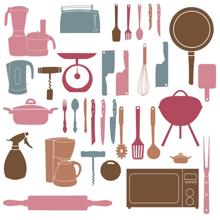 vector illustration of kitchen tools for cooking Stock Vector - 14107913
