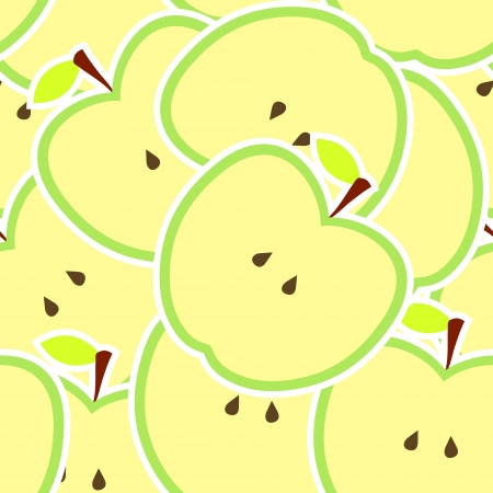 apple tart: Apple vector illustration seamless pattern Illustration