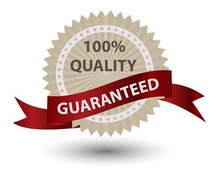 quality assurance: Quality Labels in retro vintage design Illustration