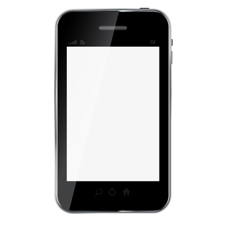 touchphone: Abstract design mobile phone. Vector illustration
