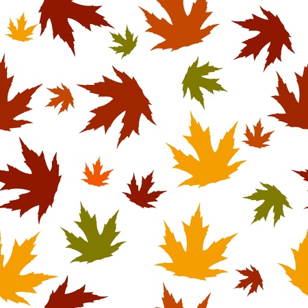 sycamore leaf: Autumn seamless pattern