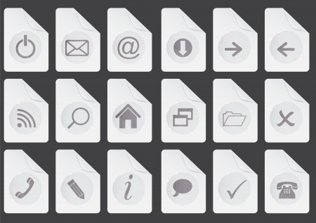 Set of  web buttons vector illustration Vector