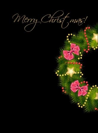 Realistic christmas wreath. vector illustration Vector