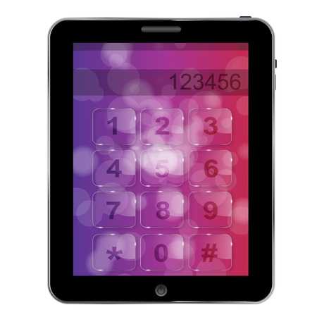 Universal design Tablet  with numbers icon, vector illustration Vector
