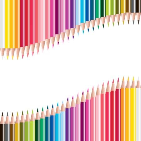 vector set of colored pencils Stock Illustratie