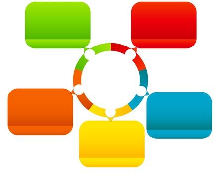 Concept de bannières colorées avec des flèches circulaires des fins d'illustration des affaires vecteur de conception différente Vecteurs