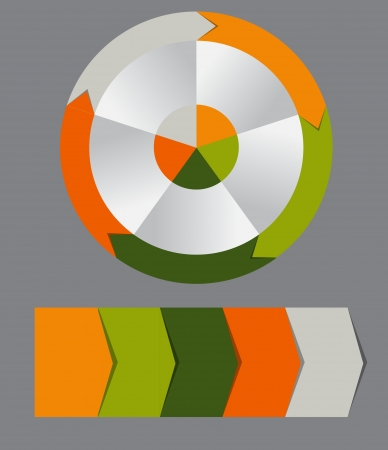 Concept of colorful circular banners with arrows for different business design  Vector illustration Vector