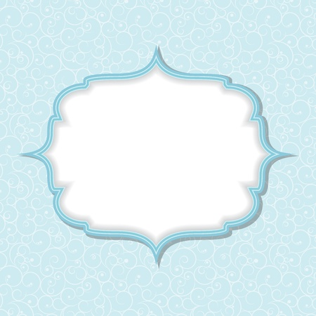 Frame in  retro vintage seamless background.  Vector