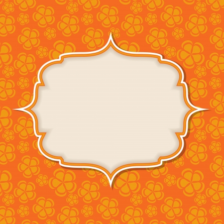 orange swirl: Frame in  retro vintage seamless background.