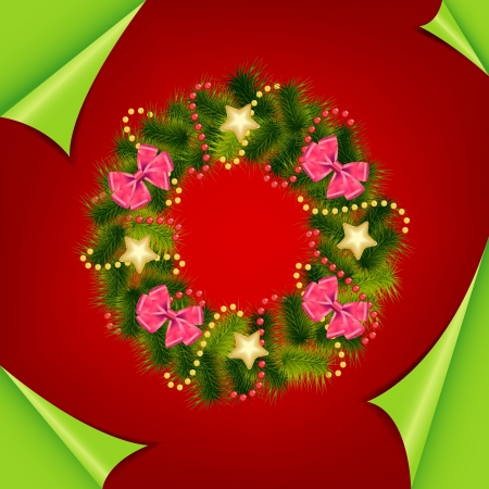 Abstract colorful red christmas background  vector illustration Vector