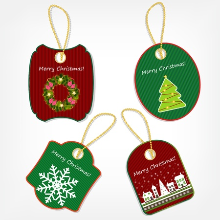 Set of Christmas stickers  Stock Vector - 14798836