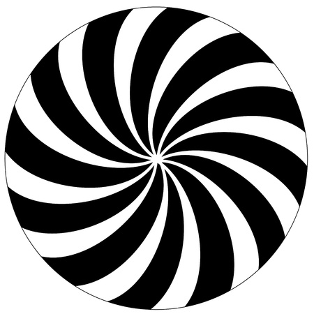 Black and white hypnotic background  Vector
