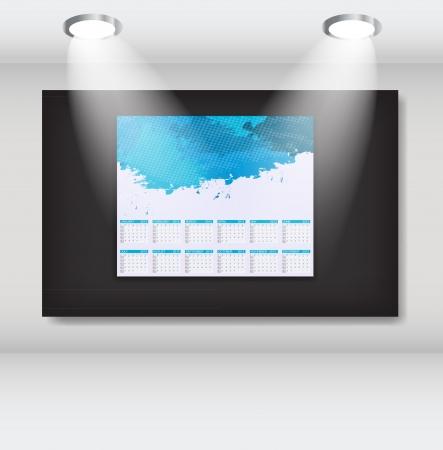 Frame with 2013 year calendar art gallery Stock Vector - 14798902