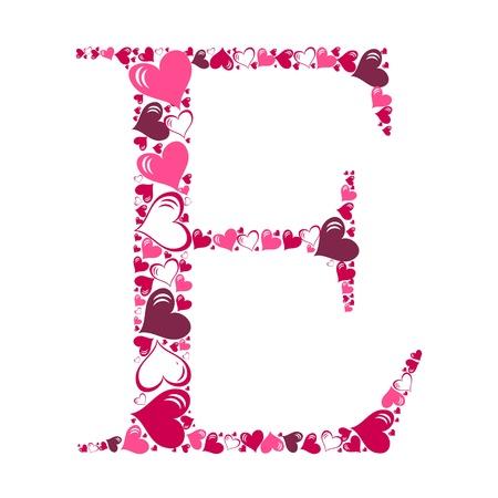 Alphabet of hearts illustration Stock Vector - 15190485