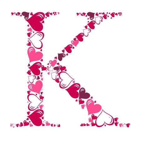 alphabet style: Alphabet of hearts  illustration Illustration