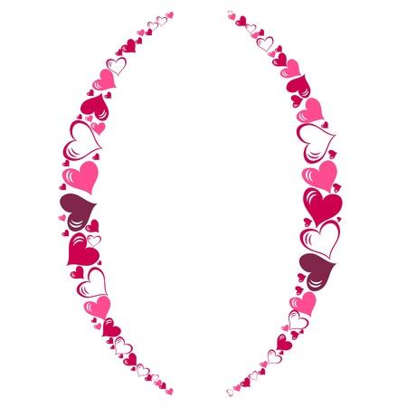 Alphabet of hearts  illustration Stock Vector - 15190429
