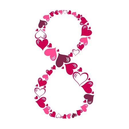 Alphabet of hearts illustration Stock Vector - 15190355