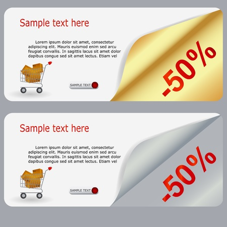 Sale banner with place for your text.  illustration Stock Vector - 15190665