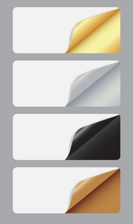 Banners with different corner and place for your text.  Vector