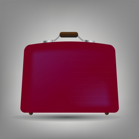 Blue suitcase icon  illustration Stock Vector - 15190530