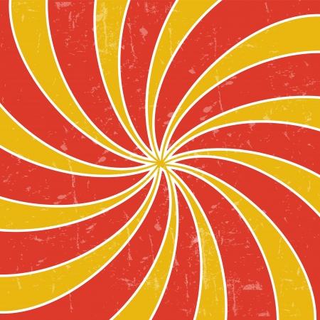 Retro vintage grunge hypnotic background  illustration Vector