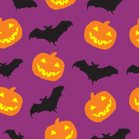 Halloween seamless pattern background illustration Vector