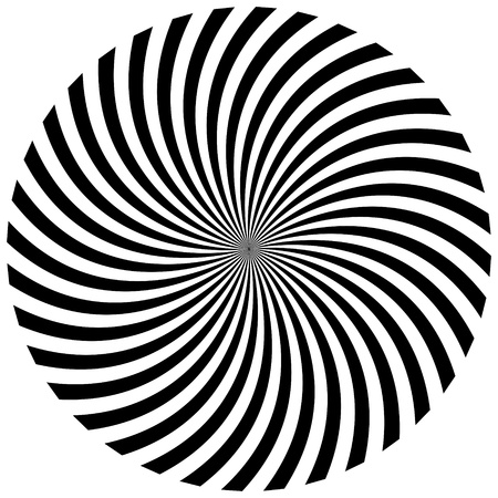 hypnotique: Noir et blanc illustration de fond hypnotique