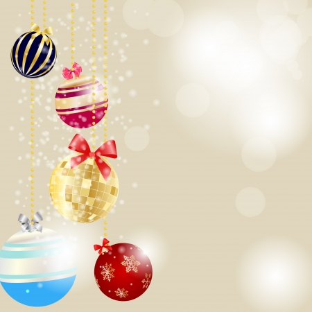 Abstract beauty Christmas and New Year background. Vector illustration Stock Vector - 14916535