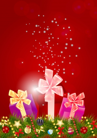Abstract beauty Christmas and New Year background. Stock Vector - 14916558