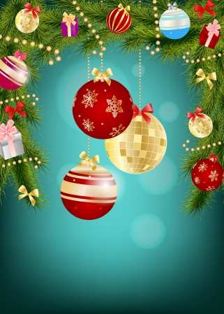 Abstract beauty Christmas and New Year background Stock Vector - 14916740