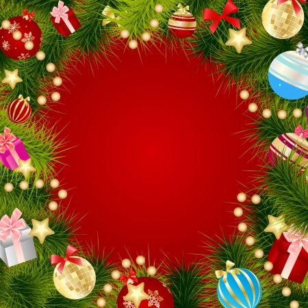 Abstract beauty Christmas and New Year background. Stock Vector - 14916650