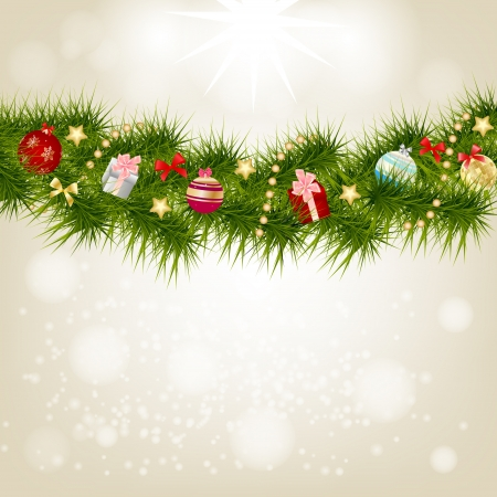 Abstract beauty Christmas and New Year background Stock Vector - 14916754