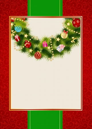Abstract beauty Christmas and New Year invitation background Vector
