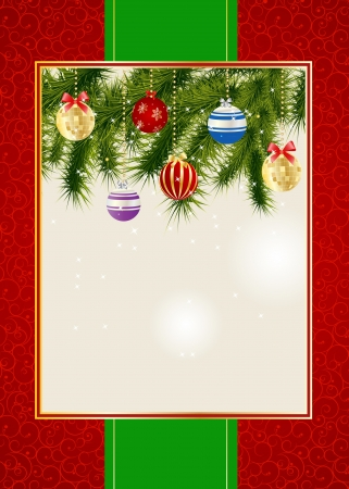 christmas scroll: Abstract beauty Christmas and New Year invitation background. Vector illustration