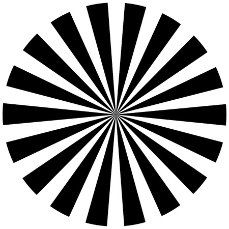 Black and white hypnotic background Stock Vector - 14965579