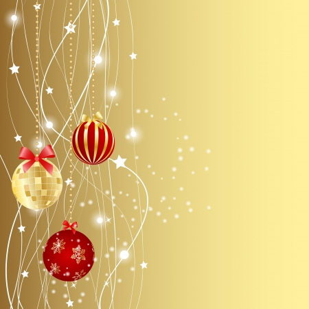 new year border: Abstract christmas red background vector illustration