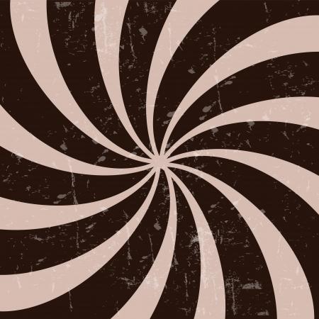 hypnotique: R�tro vintage grunge hypnotique illustration vectorielle arri�re-plan CHOCOLAT