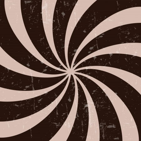 Retro vintage grunge hypnotic CHOCOLATE background vector illustration Stock Vector - 14981292