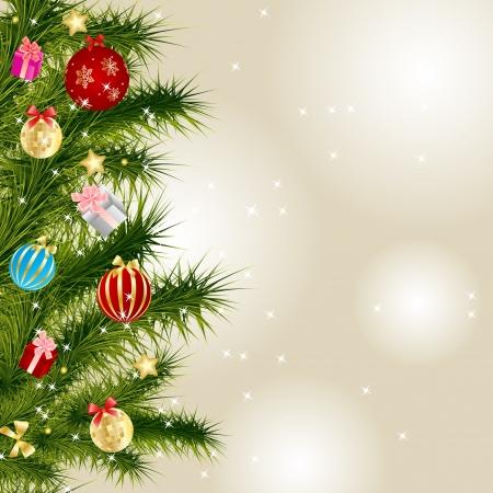 sfondo luci: Astratto bellezza di Natale e del Nuovo Anno vettoriale illustrazione sfondo Vettoriali