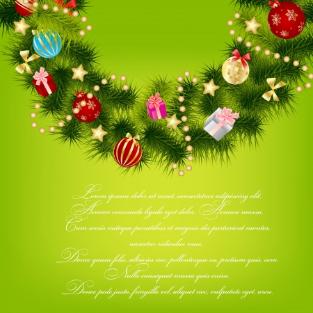 Abstract beauty Christmas and New Year background  vector illustration Stock Vector - 14981309