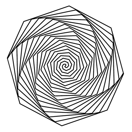hypnotique: Noir et blanc fond hypnotique.