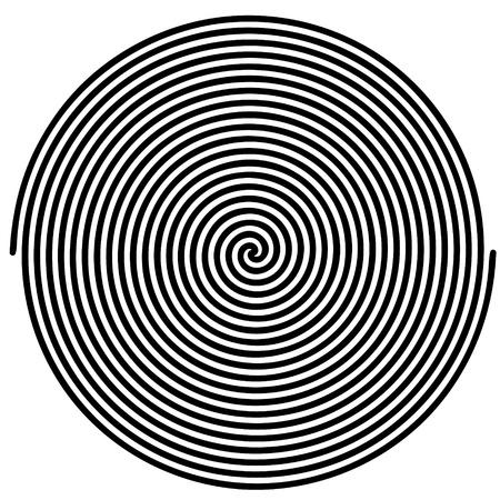 Black and white hypnotic background. Vektorové ilustrace