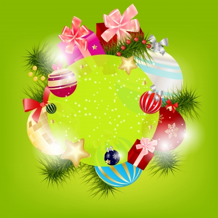 Abstract beauty Christmas and New Year background. Vector illustration Vector