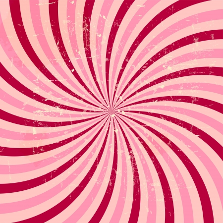 Strawberry, cream abstract hypnotic background. vector illustration Stock Vector - 14981306