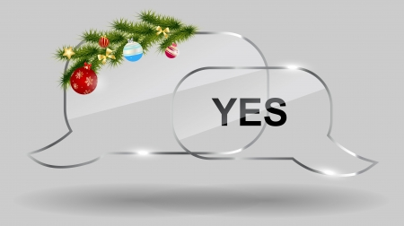 realistic christmas glass speech bubbles  Vector